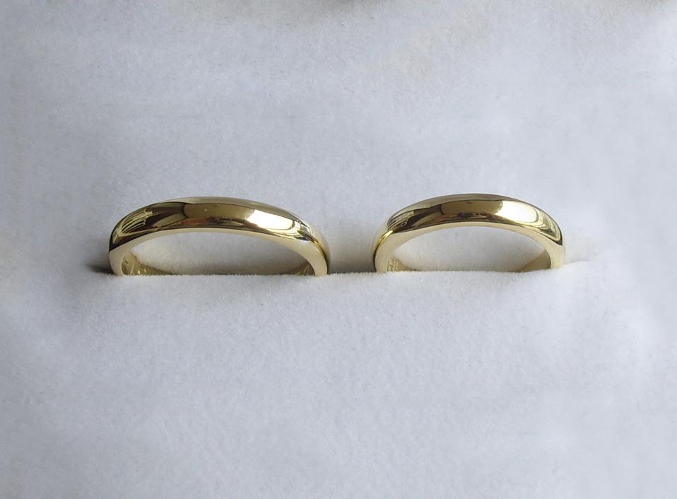 Argollas de oro amarillo de 18 kt, modelo corte inglés